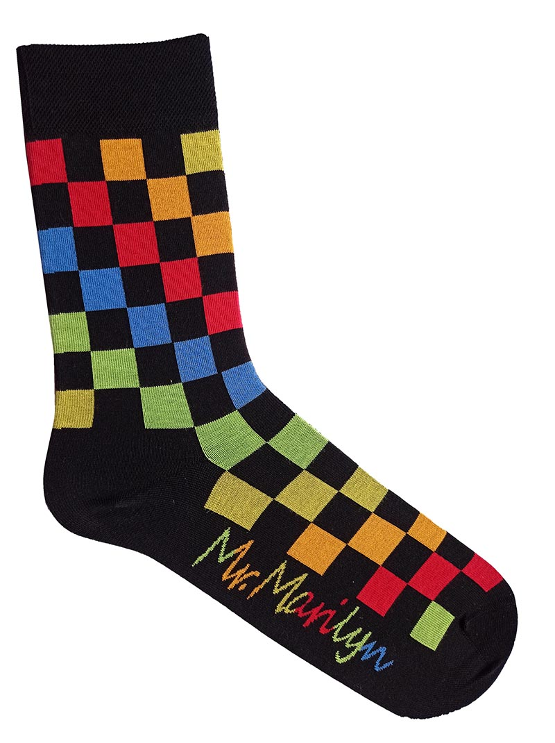 MEN RAINBOW SQUARES SOCKS